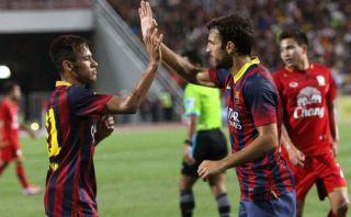 Barcelona goleó 7-1 a Tailandia con dos de Lionel Messi y tres de Pedro