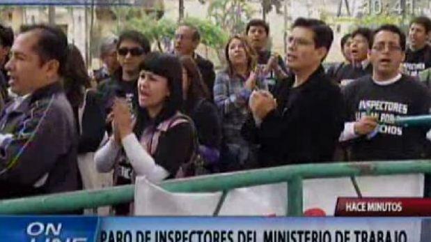 Inspectores laborales acatarán una huelga nacional desde este lunes