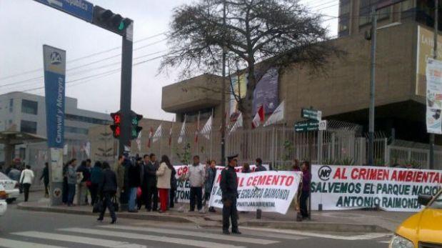 Ambientalistas protestaron contra urbanización de parque ecológico de Ancón