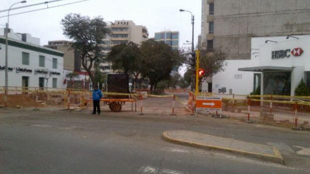 Miraflores: primera etapa de obras en Av. Larco no tiene fecha exacta de culminación
