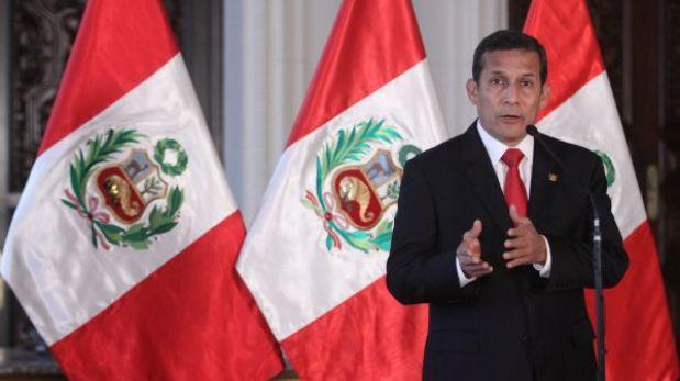 Humala viaja mañana a Paraguay para asunción de mando