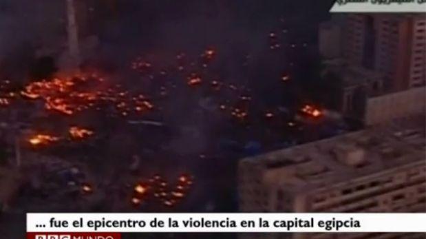 Egipto: las impresionantes imágenes aéreas de El Cairo en llamas