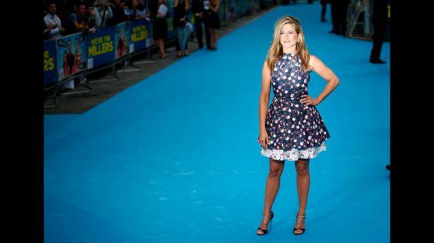 "FOTOS: Jennifer Aniston se lució en la alfombra roja de la película ""We're the Millers"" en Londres"