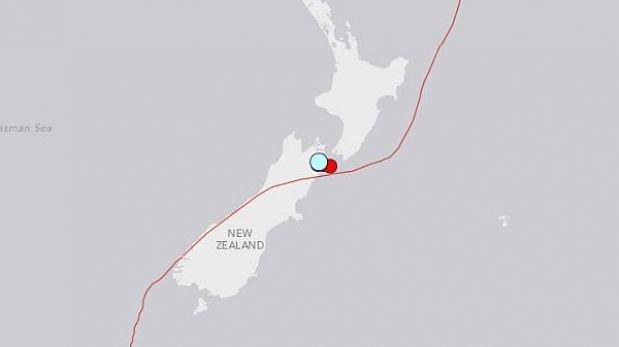 Sismo de 6,8 grados sacudió una isla al sur de Nueva Zelanda
