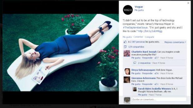 Marissa Mayer, la jefa de Yahoo, derrocha sensualidad en Vogue
