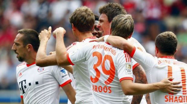 Bayern Múnich sin Pizarro venció 1-0 al Eintracht Frankfurt de Zambrano