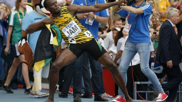 FOTOS: el impecable triunfo de Usain Bolt y su festejo tras ganar tercer oro en el Mundial de Atletismo
