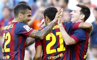 Barcelona aplastó 7-0 a Levante en el debut del 'Tata' Martino en la Liga