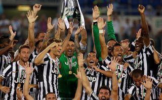 Juventus aplastó 4-0 a Lazio y ganó la Supercopa con gol de Carlos Tevez
