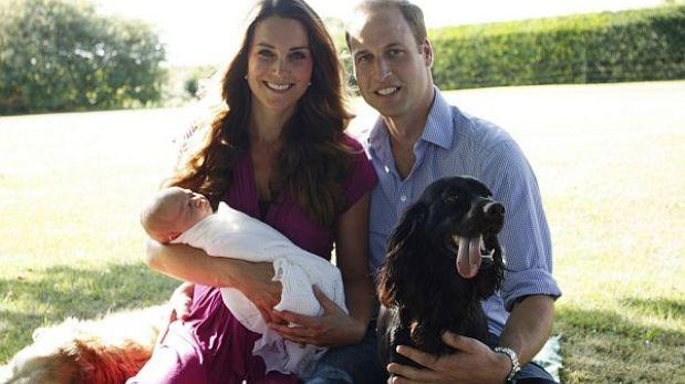 Realeza publicó las primeras fotos oficiales del hijo de Guillermo y Kate