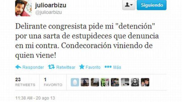 Fuerza Popular presentó queja formal contra procurador Julio Arbizu