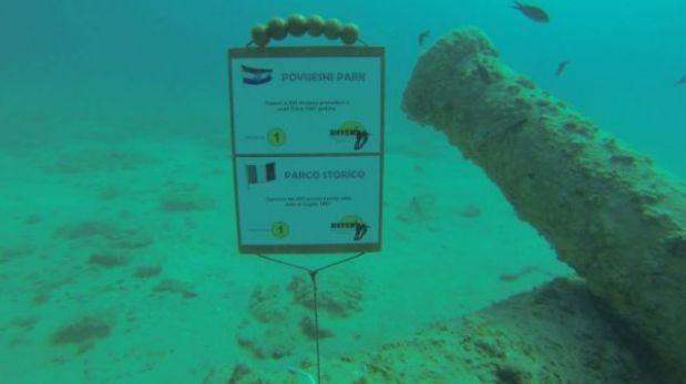 Croacia: un museo submarino en las aguas turquesas del Adriático