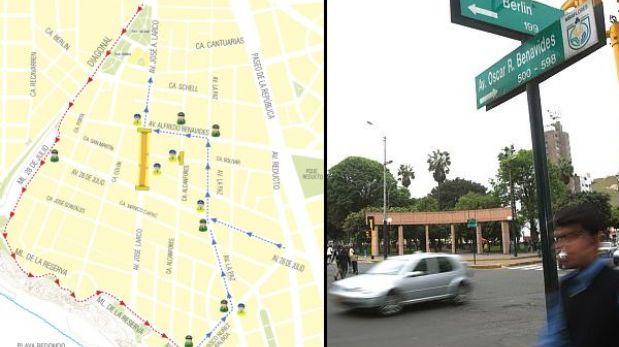 Miraflores aplica nuevo desvío en la Av. Larco debido a obras