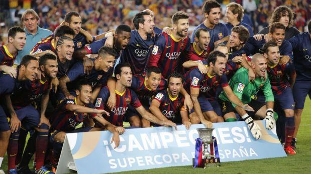 FOTOS: los festejos del Barcelona de Messi y Neymar al coronarse campeón de la Supercopa de España