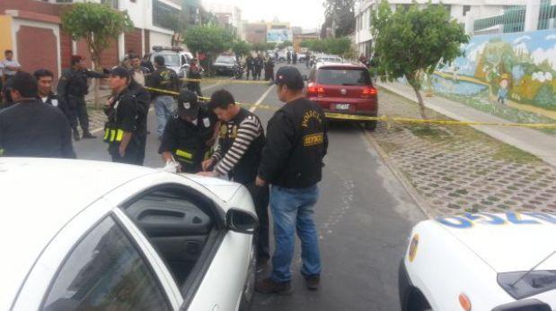 Delincuentes encapuchados intentaron robar a tres cambistas en Arequipa