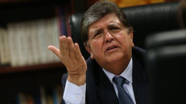 """Alan García: """"Es un abuso que no se devuelvan aportes ya pagados a la AFP"""""""