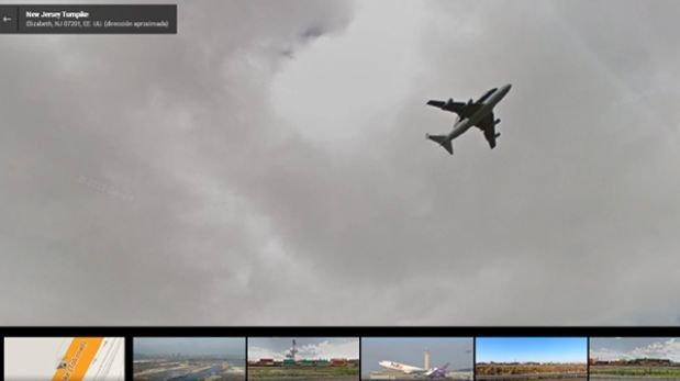 Google Street View capturó imágenes de naves espaciales al vuelo