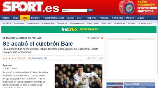 FOTOS: Fichaje de Gareth Bale al Real Madrid acapara la atención de la prensa deportiva mundial