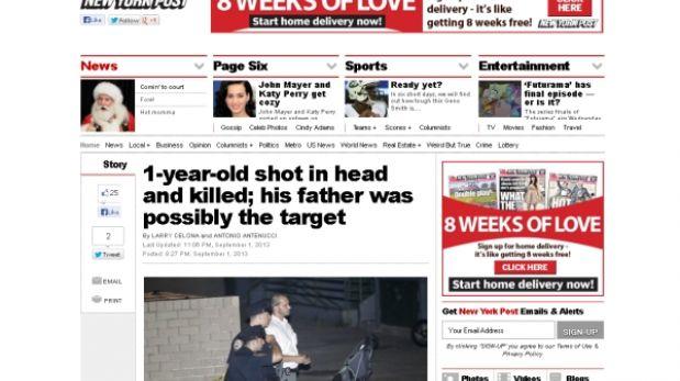 Estados Unidos: bebe de un año murió tras ser baleado en Nueva York