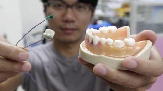 Un diente inteligente puede detectar cuando una persona come o fuma demasiado