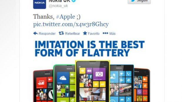 Nokia 'troleó' a Apple en plena presentación del iPhone 5C