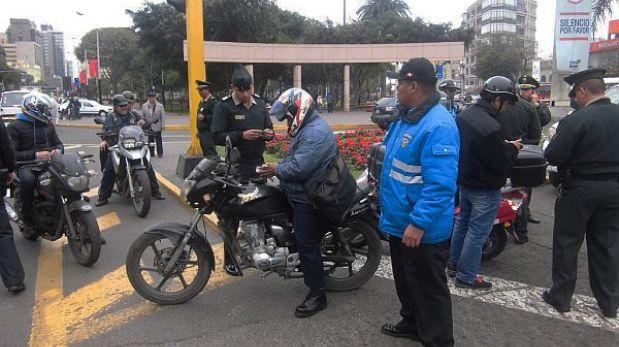 Miraflores: comuna detuvo a 280 motociclistas en plan de seguridad
