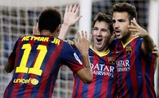 Barcelona venció 3-2 a Sevilla con goles de Messi, Alves y Sánchez