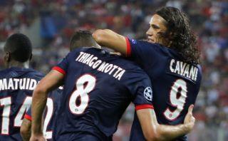 PSG venció 4-1 al Olympiacos: Ibrahimovic falló un penal y Cavani anotó