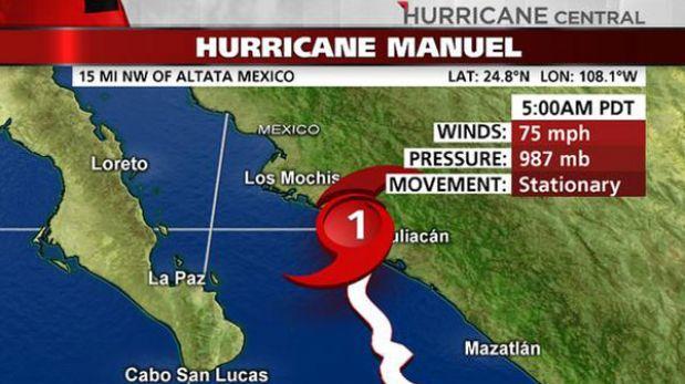 "Huracán ""Manuel"" llega a la costa del noroeste de México"
