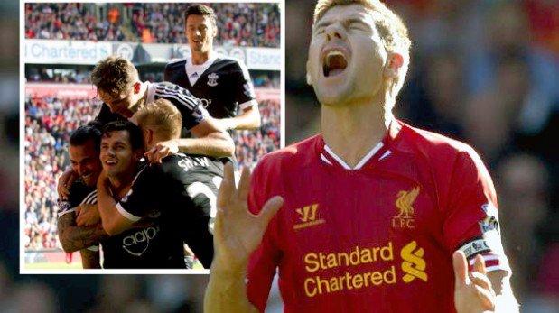 Liverpool perdió el invicto ante Southampton tras caer 1-0 en casa
