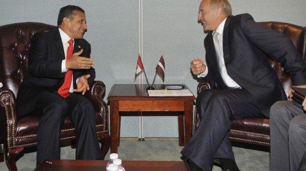 FOTOS: Ollanta Humala se reunió con la reina de Holanda y el presidente de Letonia en Nueva York