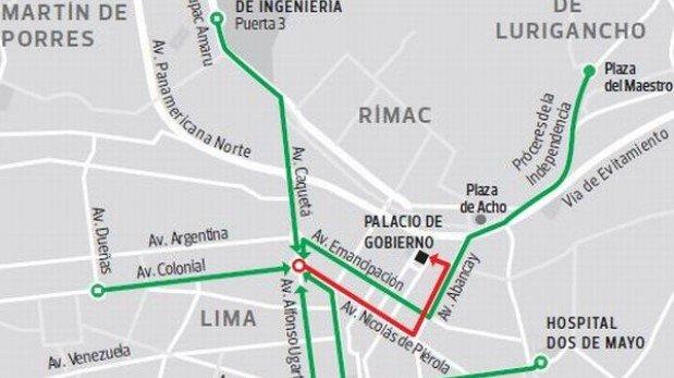 Toma precauciones: marcha de la CGTP restringirá el paso en calles del Cercado