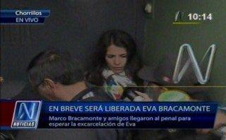 Eva Bracamonte abandonó el Penal de Mujeres de Chorrillos