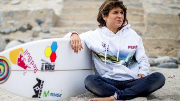 Sofía Mulanovich se despide del Tour Mundial de surf en Portugal