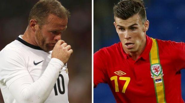Lesionados Rooney y Bale fueron convocados en Inglaterra y Gales