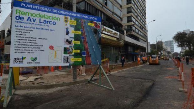 Miraflores cerrará el cruce de las avenidas Larco y Benavides