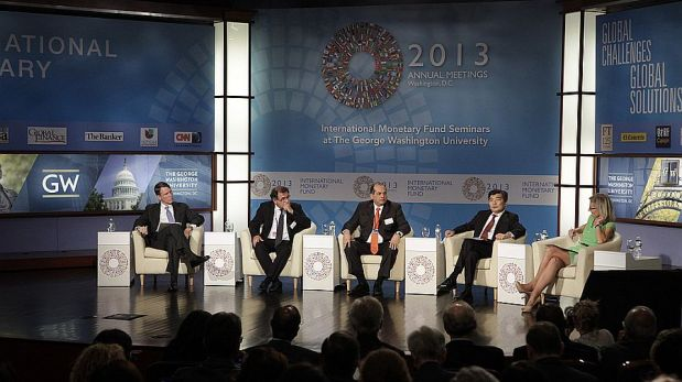 La primera jornada de las reuniones del FMI y Banco Mundial [FOTOS]