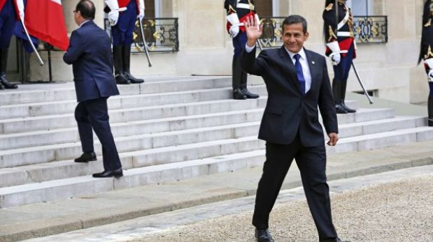 Ollanta Humala llega esta tarde a Lima en medio de cuestionamientos por viaje a París