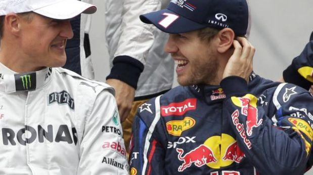 F1: Vettel se alista a ganar un título más con la bendición de Schumacher