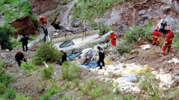 Cusco: murieron 3 personas al volcarse camión que hacía transporte público