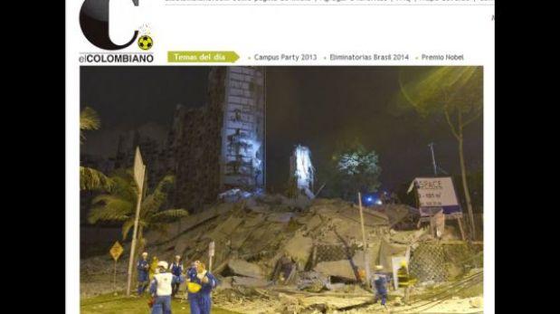 Colombia: al menos 15 desaparecidos dejó el derrumbe de un lujoso edificio