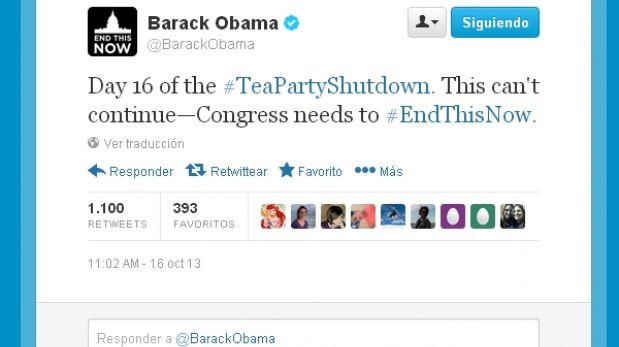 """Barack Obama al Congreso: """"Esto no puede continuar, terminen esto ahora"""""""