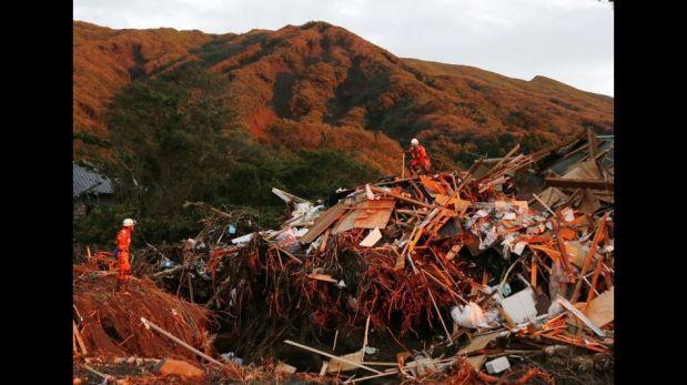 El dolor y la destrucción que dejó en Japón el paso del tifón Wipha [FOTOS]