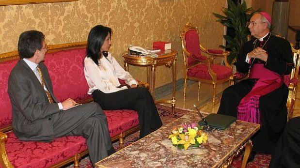 Nadine Heredia se reunió con representante del Vaticano