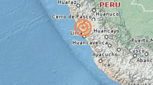 Sismo de 3,8 grados Richter se registró esta noche en Ancón