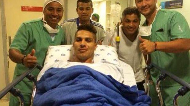 Paolo Guerrero fue operado del pie izquierdo esta mañana