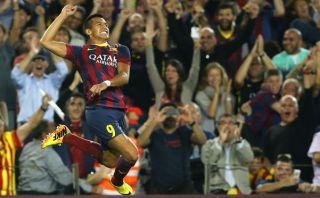 Alexis Sánchez y la pintura de gol que hizo en el clásico español [VIDEO]