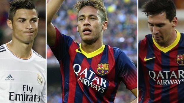 """Neymar """"eclipsa"""" a Messi y Cristiano Ronaldo, según prensa brasileña"""