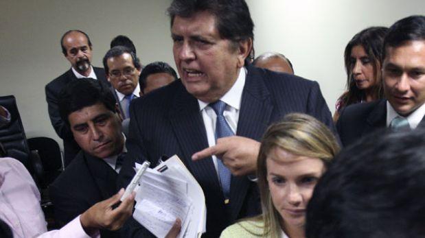 """Alan García: """"Megacomisión se formó para servir a reelección conyugal e inhabilitarme"""""""