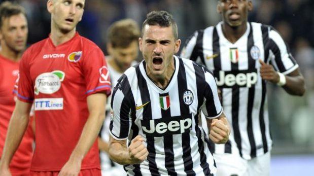 Juventus goleó 4-0 al Catania y se pone a dos puntos de la Roma